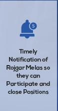 Timely notification of rojgar melas